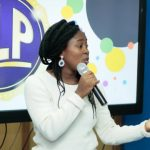 Fakiya Victoria speaking about her work with teenagers at TLC 2018 in Lagos