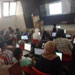 Durodola Olamide training students on digital skills