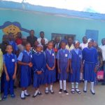Abdulazeez Basit with some of the beneficiaries of his investment in education at LEA tudun nupawa school in Kaduna