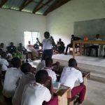 Adaude Amalunweze talking to school children in Mbayion Community, Gboko Benue State